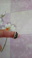 Onix köves ezüst gyűrű 53-as, 7 gramm!