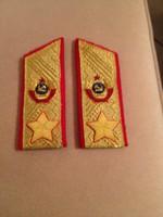 Szovjetúnió Marsall Rendfokozat diszelgő egyenruhára, 1 pár, másolat