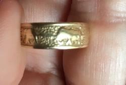 14 K-os lábujjgyűrű
