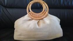 Retro lenvászon női táska