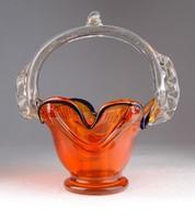 0M692 Régi muránói jellegű üveg kosár