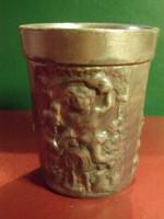 Antik vastagfalú ón pohár