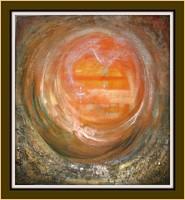 Mit keresünk...Károlyfi Zsófia alkotása, festmény 70X65cm A kép színvilága kimondottan energetizáló.
