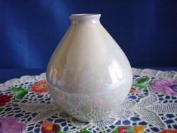 Hollóházi különleges irizáló festésű váza 9 cm magas