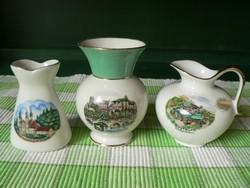3 db porcelán ajándék tárgy