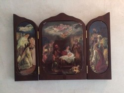 Bradex Bavária porcelán ikon,- keretben