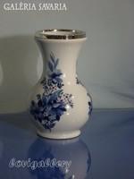 Bavaria porcelánváza, Ezüst verettel a tetején!