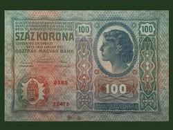 100 KORONA - REMEK ÁLLAPOTBAN 1912!-BŐL