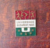 Universiade Budapest 1965 kitűző (rsthl0123)