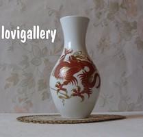 Wallendorf váza, SchauBach Kunst sárkány mintával.