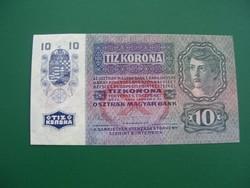 10 Korona 1915 DÖH Felülbélyegzéssel.
