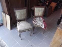 Bieder székek 2db támlás+2db puff