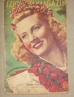 4 db Színházi Élet, Sz. Magazin, Délibáb vegyes állapot Greta Garbo Jávor Pál, Simor Erzsi,