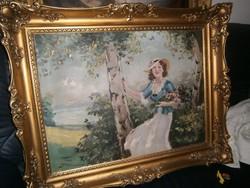 Illencz Lipót festménye