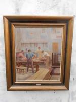 Antonin Kamenik(1886-1959)Munkások.Szlovák vagy Cseh festő.