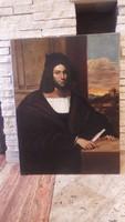Férfi portré olaj-vászon festmény
