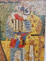 Mattioni Eszter festmény mozaik.art deco alakok.