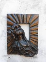 Melocco Miklós bronz szobor.Dombormű.