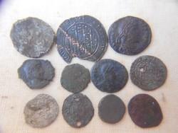 Római és Árpád kori pénzek.Tisztítatlan.