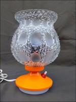 Szarvasi asztali lámpa csiszolt burával