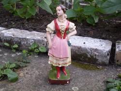 Antik gipsz leány szobor