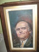 Olaj farost Torgyán József portré