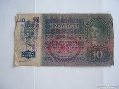 10 Korona 1915 Szabadkai Fb.