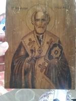 Kézzel festett fa ikon kép