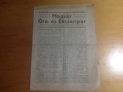 Magyar óra és ékszer ipar 1923 oktober 1
