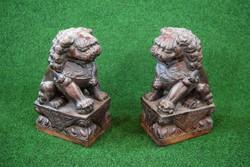Kőből faragott keleti Fo-kutya (oroszlán) pár eladó!
