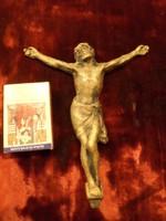 14,5 x 12 cm-es , fém Krisztus , patinás , de szép állapotban .