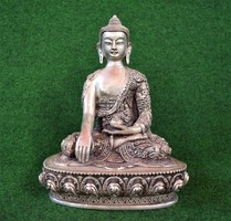 Extra, tibeti ezüst Buddha!