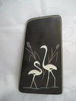 Art deco kerámia falikép  gémekkel