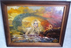 VOLKOV MIHAIL - NYÁRI ÁLOM 46 X 36 cm olaj, farost