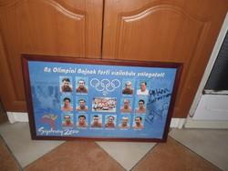 Az olimpiai Bajnok férfi vízilabda válogatott 2000 Sydney kép dedikálva