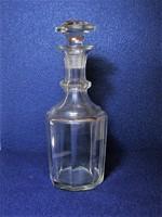 Antik Bieder palack eredeti dugójával