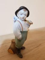 Figyelem,kiárúsítás! Zsolnay antik korsós fiú szobor.