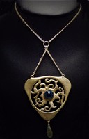 Designer ezüst ékszer drágakövekkel