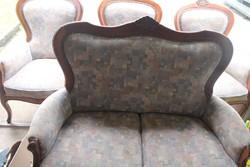 Antik barok szalongarnitura ,kanapé 2 fotel + 1