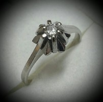 Briliàns csiszolàsú fehérarany gyémànt gyűrű