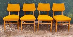 4 darab régi fa kárpitozott szék