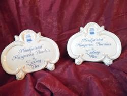 Zsolnay Pecs Hungary Porcelain Dealer Sign Plaque XXL