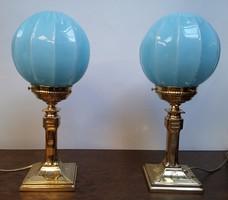 Restaurált antik art deco lámpapár