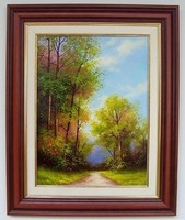 Délutáni fényben KERETEZETT Obermayer festmény
