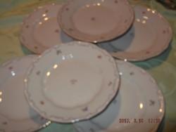 Zsolnay apró virágos süteményes tányér 6 darab