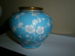 Bohémia porcelán virágos  váza