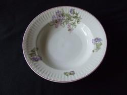 Régi porcelán bordázott fali tányér