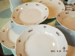 Zsolnay 6 darab lapos tányér