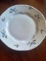 Zsolnay barackvirág mintás lapos tányér, hibátlan