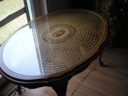 Warrings ratán lapos dohányzó asztal